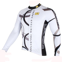 Popular Men's White Hidden-Zipper Long-sleeve Cycling Jersey with patterns for Outdoor Sport   Leisure Sport Breathable and Quick Dry Fall Autumn Bike Shirt Bicycle clothing 205 (velvet) -  Cycling Apparel, Cycling Accessories | BestForCycling.com