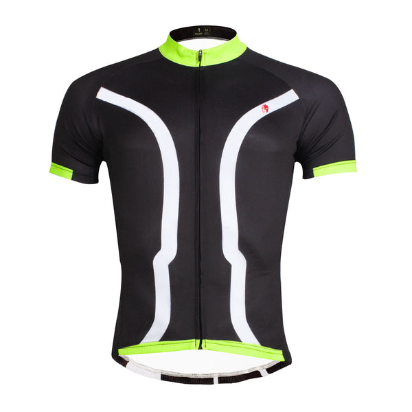 Black Green Men's Cycling Short Sleeve Bicycling Jersey Summer NO.027 -  Cycling Apparel, Cycling Accessories | BestForCycling.com