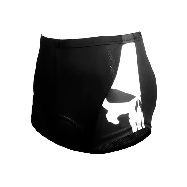 ILPALADINO Skull  Punisher Mens 3D Padded Cycling Underwear Shorts Bicycle Underpants Lightweight Bike Biking Shorts Breathable Bicycle Pants Lightweight NO.CK92