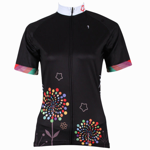 ILPALADINO Dandelion Black Cycling Jersey Bicycling Summer Pro Cycle Apparel Outdoor Sports Leisure Biking Shirts Breathable and Comfortable NO.212 -  Cycling Apparel, Cycling Accessories | BestForCycling.com