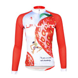 ILPALADINO Fruit Food Strawberry Red Women's Long Sleeves Cycling Jersey Spring Autumn Summer Outdoor Sports Gear Leisure Biking T-shirt NO.735 -  Cycling Apparel, Cycling Accessories | BestForCycling.com