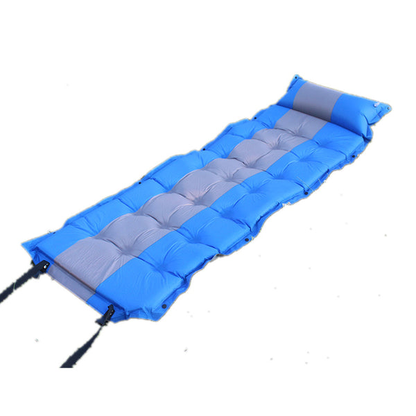 21-dots 5cm Thickness Self-Inflating Sleeping Pad Camping Mat Tent Air Mattress with Attached Pillow and Foldable Infinite Splicing Design Dampproof Waterproof Perfect for Outdoor Activities Moontime Rest -  Cycling Apparel, Cycling Accessories | BestForCycling.com