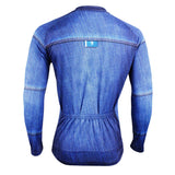 Mens Stylish Denim-blue Hidden-Zipper Long-sleeves Cycling Jersey Outdoor Leisure Sport Bike Spring Fall Autumn Windproof Jacket Bicycle Clothing 607 -  Cycling Apparel, Cycling Accessories | BestForCycling.com