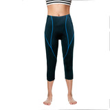 Women Premium 3D Padded Breathable ¾ Cycling Tights - Blue Line -  Cycling Apparel, Cycling Accessories | BestForCycling.com