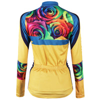 Romantic Roses Women's Long-Sleeve/Short-sleeve Cycling Jersey/Suit Yellow Cycling Jersey 223 -  Cycling Apparel, Cycling Accessories | BestForCycling.com