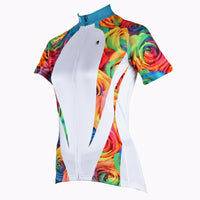 Ilpaladino Rose Patterns Elegant Women's Summer Short-Sleeve Cycling Jersey  Spring Autumn Exercise Bicycling Pro Cycle Clothing Racing Apparel Outdoor Sports Leisure Biking Shirts Breathable Sport Clothes NO.224 -  Cycling Apparel, Cycling Accessories | BestForCycling.com