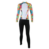 ILPALADINO Women's Long Sleeves Yellow Cycling Clothing Apparel Outdoor Sports Leisure Biking Shirt Suits with Tights NO.224 -  Cycling Apparel, Cycling Accessories | BestForCycling.com
