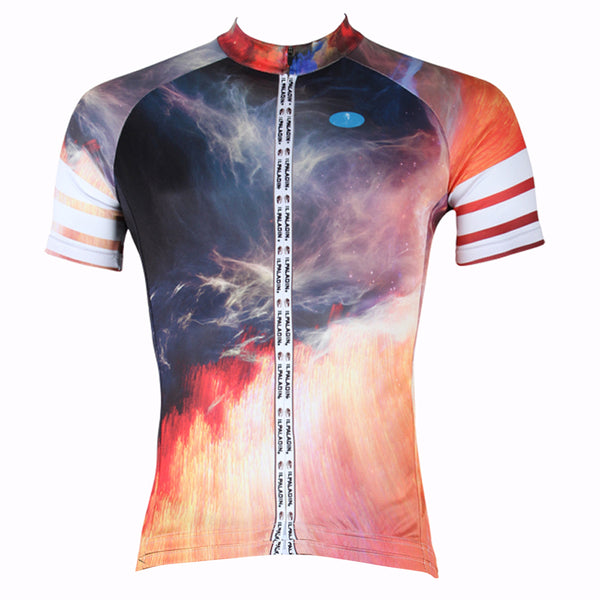ILPALADINO Volcano Men's Professional MTB Cycling Jersey Breathable and Quick Dry Comfortable Bike Shirt for Summer NO.256