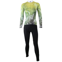 Ilpaladino Lilies Grace Woman's Cycling short/long-sleeve Jersey/Suit Kit Spring Summer Sportswear Apparel Outdoor Sports Gear Green/Purple/Red -  Cycling Apparel, Cycling Accessories | BestForCycling.com