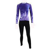 ILPALADINO Purple Cycling Jersey with Tights Women's Long Sleeves Bike Clothing Suits Quick Dry Windproof Breathable Back Pocket 100% Polyester NO.272 -  Cycling Apparel, Cycling Accessories | BestForCycling.com