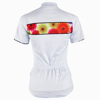 Ilpaladino Chrysanthemum Women's Short-sleeve Cycling Jersey/Suit Spring Biking Shirts Breathable Apparel Outdoor Sports Gear Clothes NO.280 -  Cycling Apparel, Cycling Accessories | BestForCycling.com