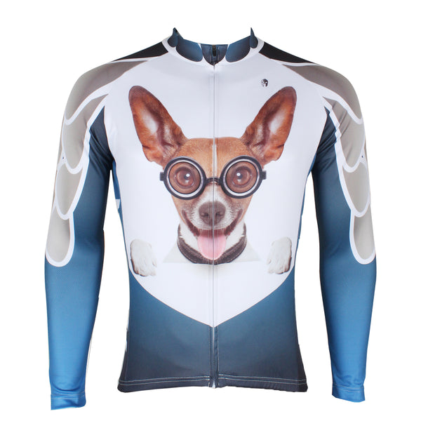 Ilpaladino Glasses Dog Animal Men's Long/Short-sleeve Cycling Bike jersey T-shirt Summer Spring Autumn Road Bike Wear Mountain Bike MTB Clothes Sports Apparel Top NO.285 -  Cycling Apparel, Cycling Accessories | BestForCycling.com