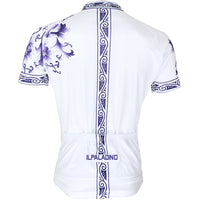 Blue and White Porcelain Pattern Cycling Jersey Men's  Short-Sleeve Bicycling Summer NO.024 -  Cycling Apparel, Cycling Accessories | BestForCycling.com