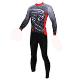 ILPALADINO Men's Long Deep Grey Sleeves  Cycling Clothing Jersey with Tights Suits Winter Exercise Bicycling Pro Cycle Clothing Racing Apparel Outdoor Sports Leisure Biking (Velvet) NO.295 -  Cycling Apparel, Cycling Accessories | BestForCycling.com