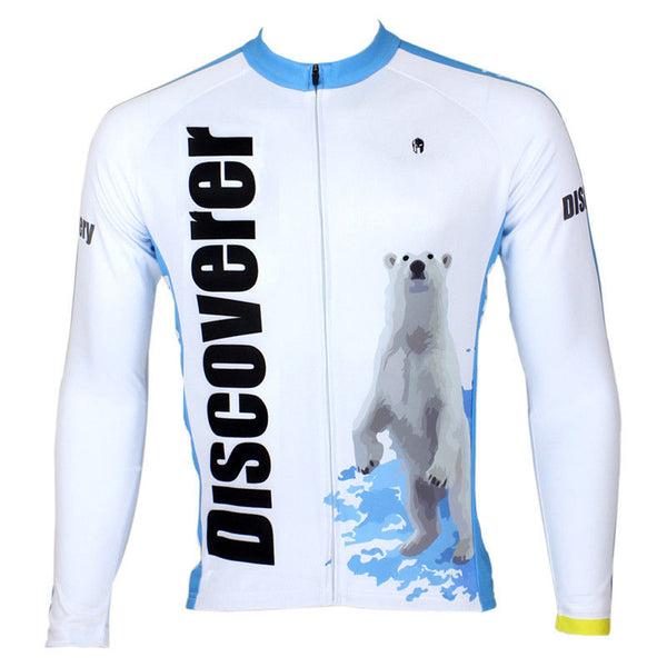 Ilpaladino Snow Polar Bear Men's Long/Short-sleeve Cycling Bike jersey T-shirt Summer Spring Autumn Road Bike Wear Mountain Bike MTB Clothes Sports Apparel Top NO.299