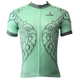Ilpaladino Patterned Green Leaves Men's Breathable Quick Dry Short-Sleeve Cycling Jersey Bicycling Shirts Summer Apparel Outdoor Sports Gear Leisure Biking T-shirt Wear NO.505 -  Cycling Apparel, Cycling Accessories | BestForCycling.com