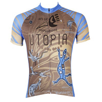 Utopia Blue Lizard  Men's Short-Sleeve Cycling Jersey Bicycling Shirts Summer  NO.526 -  Cycling Apparel, Cycling Accessories | BestForCycling.com