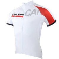 Ilpaladino Canada Simple White Men's Breathable Quick Dry Short-Sleeve Cycling Jersey Bicycling Shirts Summer Apparel Outdoor Sports Gear Upper Wear NO.052 -  Cycling Apparel, Cycling Accessories | BestForCycling.com