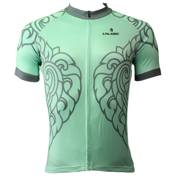 Patterned Green Leaves Men's Short-Sleeve Cycling Jersey Bicycling Shirts Summer NO.505 -  Cycling Apparel, Cycling Accessories | BestForCycling.com