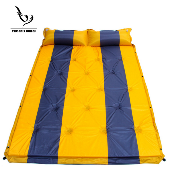 TY Outdoors Sleeping Pad Camping Encampment Self-inflating Mat Sleeping Pad with Attached Pillow Dampproof Waterproof Perfect for Outdoor Activities Double Bed Twin-bed Yellow/Blue -  Cycling Apparel, Cycling Accessories | BestForCycling.com