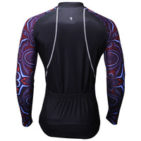 7d038f3b8b5 ILPALADINO Mystery Cool Graphic Arm Men's Cycling Long-sleeve Black Jerseys  - Spring Summer Exercise