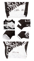 Traditional Japanese Samurai Cycling Black&White Jersey Men's Short-Sleeve Bicycling Summer Shirts NO.687 -  Cycling Apparel, Cycling Accessories | BestForCycling.com