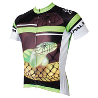 Ilpaladino Snake  Men's Breathable Quick Dry Short-Sleeve Green&Black Cycling Jersey Bicycling Pro Cycle Clothing Racing Apparel Outdoor Sports Leisure Biking T-shirt Summer Sport Wear NO.559 -  Cycling Apparel, Cycling Accessories | BestForCycling.com