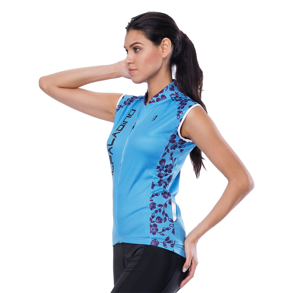 Blue Flower Branch Women's Cycling Sleeveless Bike Jersey T-shirt Summer Spring Road Bike Wear Mountain Bike MTB Clothes Sports Apparel Top NO. 804 -  Cycling Apparel, Cycling Accessories | BestForCycling.com