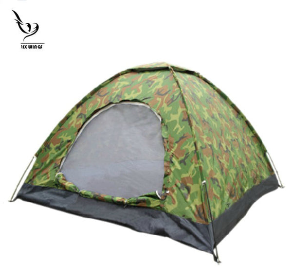 2/ 3-4 People Large One-Layer Army Military Green Camouflage Wild Camping Family Dome Travel Backpacking Tents with Carry Bag Outdoor Shelters Lightweight Waterproof -  Cycling Apparel, Cycling Accessories | BestForCycling.com