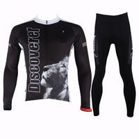ILPALADINO Discoverer Lion Man's Long-sleeve Cycling Suit Team Kit Nature Wild Animal Jacket T-shirt Summer Suit Spring Autumn Clothes Sportswear Racing Apparel NO.301 -  Cycling Apparel, Cycling Accessories | BestForCycling.com