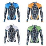 Ilpaladino Women's Long-sleeve Cycling Jersey Summer Spring Autumn Pro Cycle Clothing Racing Apparel Outdoor Sports Leisure Biking shirt Blue/ Orange/ White/Green NO.314 -  Cycling Apparel, Cycling Accessories | BestForCycling.com