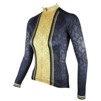 ILPALADINO Women's Long Sleeves Black & Yellow Cycling Jersey Apparel Outdoor Sports Gear Leisure Biking T-shirt 316 -  Cycling Apparel, Cycling Accessories | BestForCycling.com