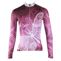 ILPALADINO  Purplish Red Butterfly Women's Long Sleeves Jersey Cycling Clothing Spring Autumn Pro Cycle Clothing Racing Apparel Outdoor Sports Leisure Biking shirt  NO.317 -  Cycling Apparel, Cycling Accessories | BestForCycling.com