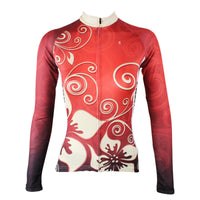 Ilpaladino Gold Flowers Red Woman's Cycling  long-sleeve Jersey/Suit Spring Summer Sportswear Exercise Bicycling Pro Cycle Clothing Racing Apparel Outdoor Sports Leisure Biking Shirts NO.318 -  Cycling Apparel, Cycling Accessories | BestForCycling.com