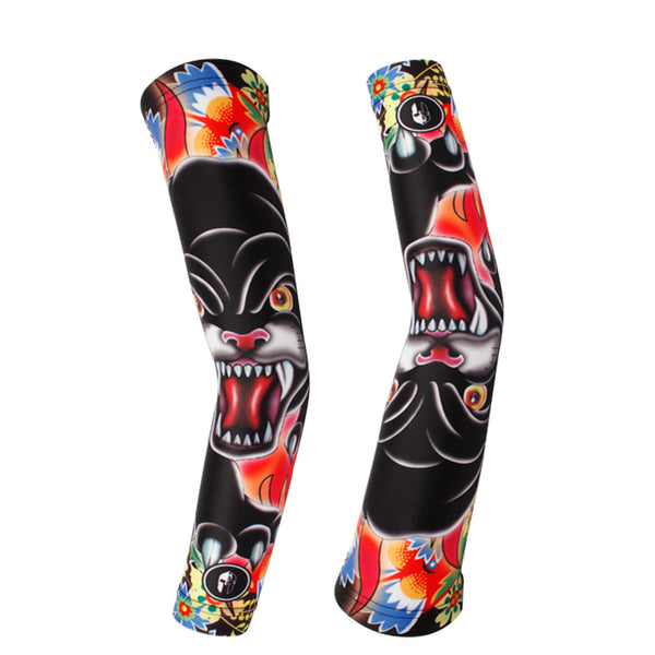 Black Panther Professional Outdoor Sport Wear Compression Arm Sleeve Oversleeve Pair Breathable UV Protection Unisex NO.X018 -  Cycling Apparel, Cycling Accessories | BestForCycling.com