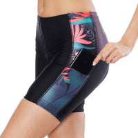 Elegance Tropical Plant Flower Womans Spinning Cycling Padded Bike Shorts UPF 50+ Spandex Clothing and Riding Gear Summer Pant Road Bike Wear Mountain Bike MTB Clothes Sports Apparel Quick dry Breathable NO. 791 -  Cycling Apparel, Cycling Accessories | BestForCycling.com