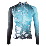 Ilpaladino Silver Flowers Blue Elegant Woman's Cycling long-sleeve Jersey/Suit Spring Summer Bicycling Pro Cycle Clothing Racing Apparel Outdoor Sports Leisure Biking T-shirt Sportswear NO.320 -  Cycling Apparel, Cycling Accessories | BestForCycling.com