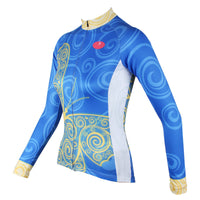 ILPALADINO Women's Long Sleeves Blue Yellow-butterfly Cycling Jersey Apparel Outdoor Sports Gear Leisure Biking T-shirt NO.323 -  Cycling Apparel, Cycling Accessories | BestForCycling.com