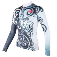 Flowers Grey Blue Elegant Cycling Clothing Woman's Cycling long-sleeve Jersey/Suit 324 -  Cycling Apparel, Cycling Accessories | BestForCycling.com