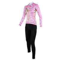 ILPALADINO Women's Long Sleeves  Flowery Pink Cycling Clothing Apparel Outdoor Sports Gear Leisure Biking T-shirt NO.327 -  Cycling Apparel, Cycling Accessories | BestForCycling.com
