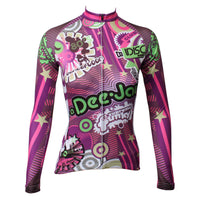 ILPALADINO Purple Funky  Women's Long Sleeves Red Cycling Clothing Suits with Tights  Spring Autumn Exercise Bicycling Pro Cycle Clothing Racing Apparel Outdoor Sports Leisure Biking Shirts NO.328 -  Cycling Apparel, Cycling Accessories | BestForCycling.com