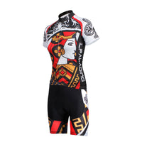 ILPALADINO Playing Cards Poker Face Clubs Queen Women's Long Sleeves Cycling Suit Jerseys Bike Shirt Outdoor Sports Gear Leisure Biking T-shirt Sports Clothes Face Cards Court Cards NO.640 -  Cycling Apparel, Cycling Accessories | BestForCycling.com