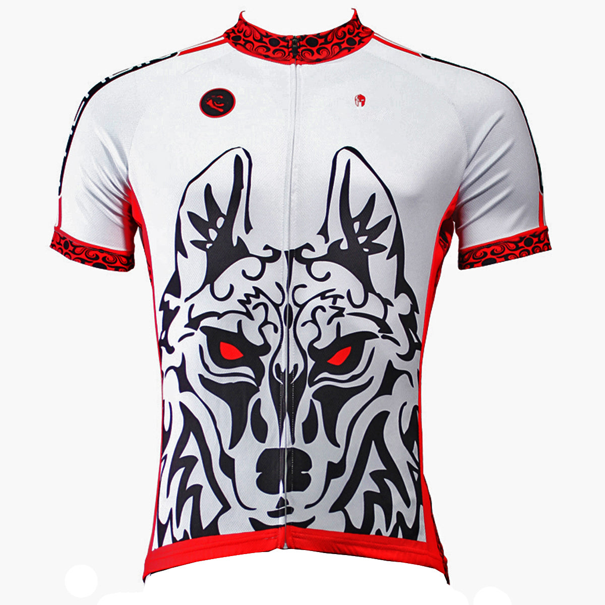 46f92e465 Ilpaladino Red-eye Wolf Men s Breathable Short-Sleeve Cycling Jersey S – Cycling  Apparel