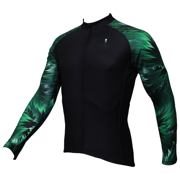 ILPALADINO Green Cool Graphic Arm Men's Cycling Long-sleeve Black Jerseys - Spring Summer Exercise Bicycling Pro Cycle Clothing Racing Apparel Outdoor Sports Leisure Biking Shirts Team Kit Individual Styles NO.364 -  Cycling Apparel, Cycling Accessories | BestForCycling.com