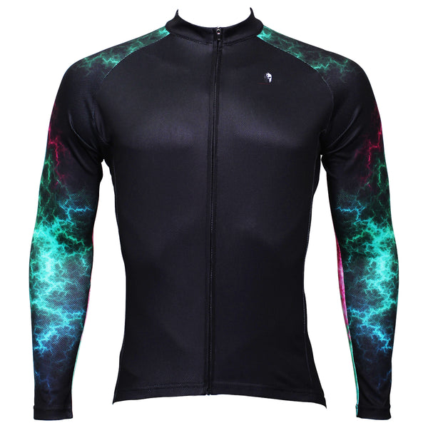 GreenUniverse Light Power Graphic Arm Men's Cycling Long-sleeve Black Jerseys NO.366 -  Cycling Apparel, Cycling Accessories | BestForCycling.com