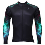 ILPALADINO GreenUniverse Light Power Graphic Arm Men's Cycling Long-sleeve Black Jerseys - Spring Summer Exercise Bicycling Pro Cycle Clothing Racing Apparel Outdoor Sports Leisure Biking Shirts Team Kit Individual Styles NO.366 -  Cycling Apparel, Cycling Accessories | BestForCycling.com