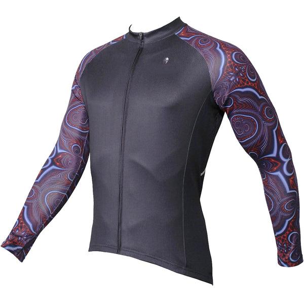 be417157643 ... ILPALADINO Mystery Cool Graphic Arm Men's Cycling Long-sleeve Black  Jerseys - Spring Summer Exercise