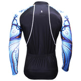 ILPALADINO Nautilus Cool Graphic Blue Arm Print Men's Cycling Long-sleeve Black Jerseys - Spring Summer Exercise Wear Bicycling Pro Cycle Clothing Racing Apparel Outdoor Sports Leisure Biking Shirts Team Kit Personalized Styles NO.368 -  Cycling Apparel, Cycling Accessories | BestForCycling.com