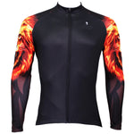 【Graphic Arm Shirt】 ILPALADINO Fire Golden Roar Lion Cool Arm Print Men's Cycling Long-sleeve Black Jerseys - Spring Summer Exercise Wear Bicycling Pro Cycle Clothing Racing Apparel Outdoor Sports Leisure Biking Shirts Team Kit Personalized Styles NO.370 -  Cycling Apparel, Cycling Accessories | BestForCycling.com