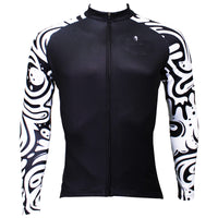 Sale Men's Long-sleeved Cycling Jersey for Spring and Summer Zebra Pattern Black Cycling Jersey Cycling Clothing Apparel Outdoor Sports Gear Leisure Biking T-shirt NO.371 -  Cycling Apparel, Cycling Accessories | BestForCycling.com